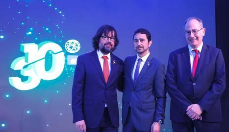 Ricard Font, Damià Calvet i Pere Calvet, director general de FGC.