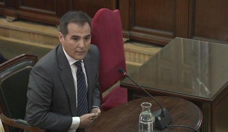 José Antonio Nieto, ahir durant la seua intervenció com a testimoni en el judici.
