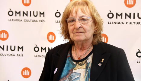 L'escriptora de Terrassa Marta Pessarrodona, ahir a Barcelona.
