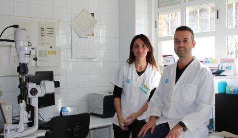 Els doctors María Jesús Muniesa i Antonio Ezpeleta.