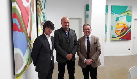 El director d'Afrucat, Manel Simon, el president, Francesc Torres, i el secretari, Joan Serentill.