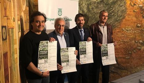 Gibert, Mir, De Noguera i Urrea, ahir en la presentació del fòrum.