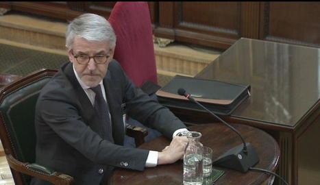 Millo, ahir, mentre testificava en el judici contra els líders independentistes al Suprem.