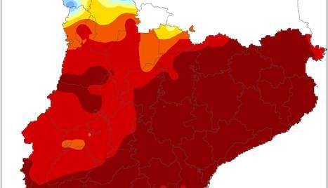 Percentatge de precipitació acumulada respecte a la mitjana climàtica.
