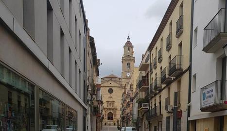 Imatge del carrer Nou de les Borges, que es vianalitzarà.