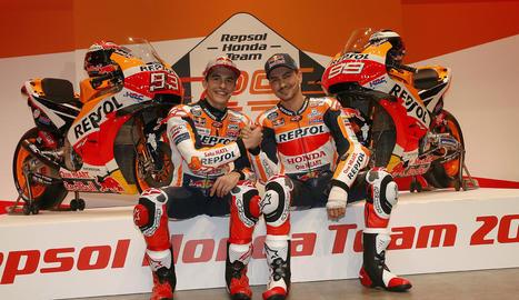 Marc Màrquez i Jorge Lorenzo compartiran equip a MotoGP.