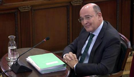 Diego Pérez de los Cobos, ahir durant la segona jornada de la seua compareixença com a testimoni.