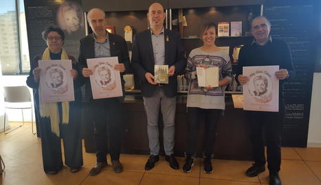 Presentació ahir a la biblioteca Margarida de Montferrat de Balaguer de l'Any Teresa Pàmies.