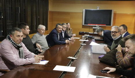 Imatge de la reunió del gener passat de la Paeria amb el FiF.