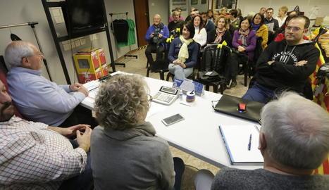 Un instant de la reunió feta ahir a l'ANC.