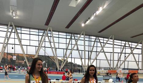 Dos medalles per a les atletes lleidatanes Aida i Andrea Alemany