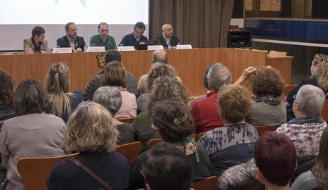 Imatge de la presentació del projecte TEI, ahir a Guissona.