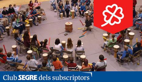 Els grups de percussions Drum Circle que acompanyaran l'OJC.