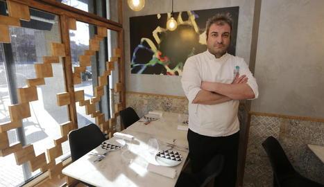 David Molina, ahir al seu restaurant Cràpula, es va mostrar molt il·lusionat amb el nou projecte.