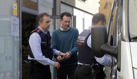 José Antonio Ortiz Cambray, dijous passat després de la declaració d'una de les víctimes durant una prova judicial.