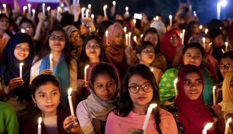 Concentració del 8 de març a Dacca, capital de Bangladesh.