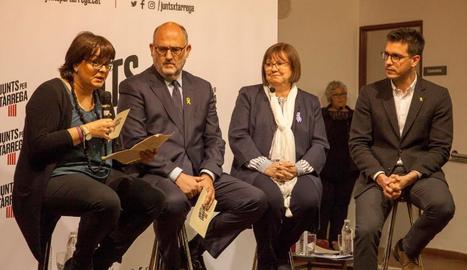 Meritxell Lluís, Eduard Pujol, Rosa Maria Perelló i Toni Postius.