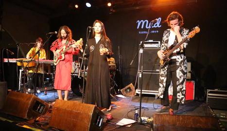 La banda d'Israel Ouzo Bazooka, ahir a la nit al Cafè del Teatre.