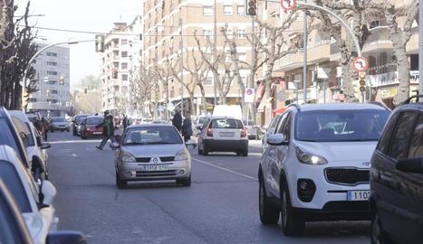 El carrer Baró de Maials al barri de Pardinyes.