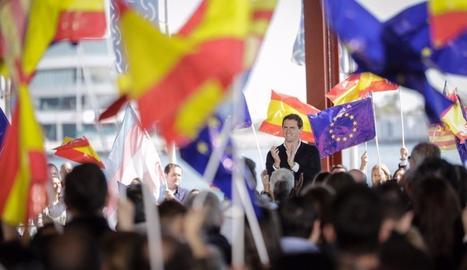 El líder de Cs, Albert Rivera, ahir, en un acte a València.
