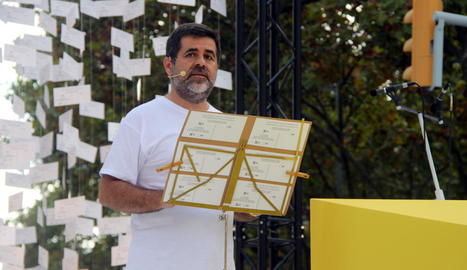 Jordi Sànchez, en una imatge d'arxiu de la Diada del 2015.