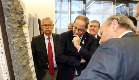 Torra es va reunir amb els alcaldes del Jussà i va rebre explicacions a l'Institut Geològic i Cartogràfic.