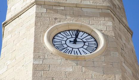 Vista general del rellotge, de nou en funcionament.