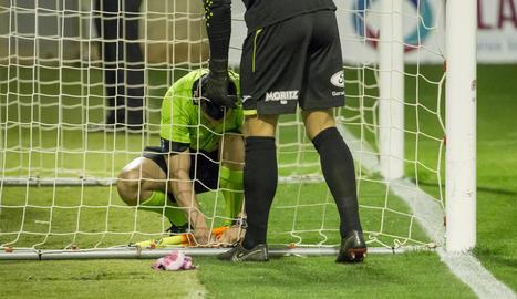 Xemi va disposar d'aquesta clara ocasió de gol, a porta buida, però va fallar en la rematada de forma clamorosa.