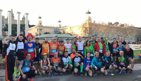 Lleida va tenir una nombrosa representació a la Marató de Barcelona 2019.