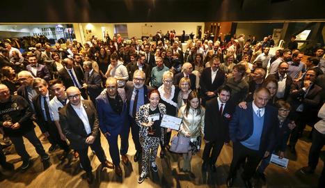 Prop de 200 persones van commemorar ahir l'aniversari del concurs Àngel Moncusí a la Llotja.