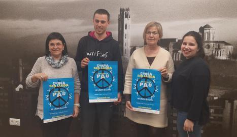 La prova solidària es va presentar ahir a la regidoria d'Esports de la Paeria.