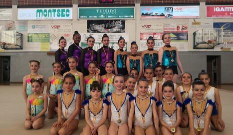 El CN Lleida aconsegueix set medalles al Ciutat de Balaguer de rítmica