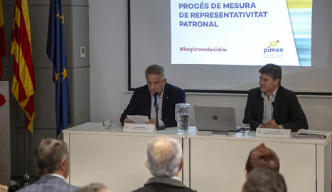 Un moment de la reunió informativa, ahir a Lleida.