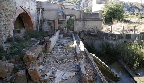 Imatge d'arxiu de la minicentral de Mitasa a Alfarràs.