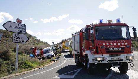 L'accident s'ha produït a l'altura del punt quilomètric 121.