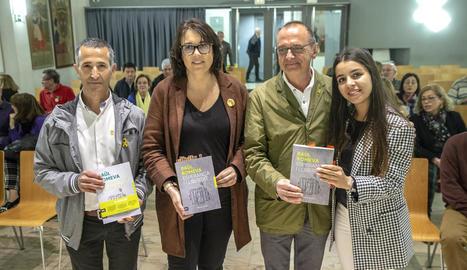 Miquel Serra, Diana Riba i Pueyo, a la presentació del llibre.