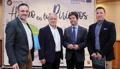 Un moment de la presentació del II Congreso del Producto y la Gastronomía del Pirineu.