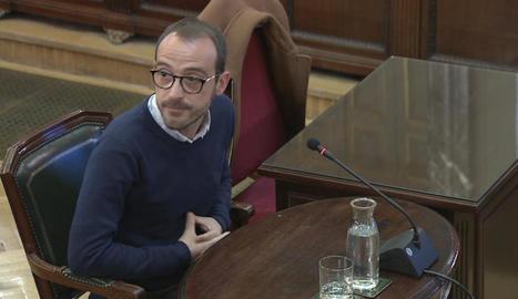 Jaume Mestre, responsable de Difusió Institucional de la Generalitat, ahir al Suprem.