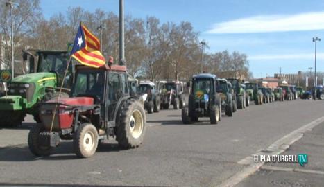 Tractorada a Lleida en defensa del sector