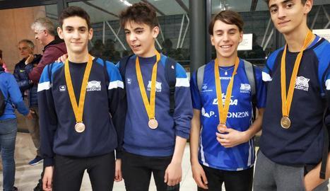Dos medalles per al Lleida UA al Català sub-16 de pista coberta