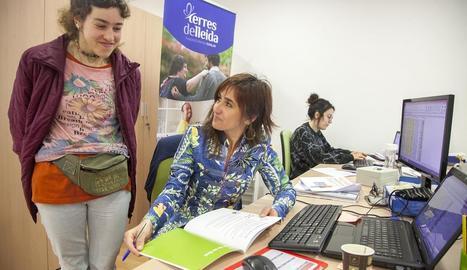 Cristina Mallol, ahir a la seu de la Fundació Privada Tutelar.