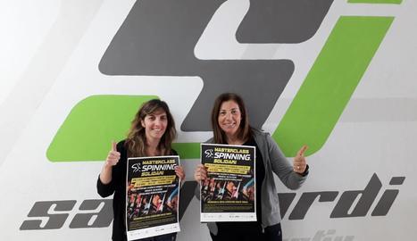 El Grup Alba i el Centre Esportiu Sant Jordi organitzen una matinal d'spinning solidària