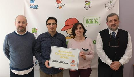 L'Associació Cultural Lleida dóna 800 euros a Afanoc