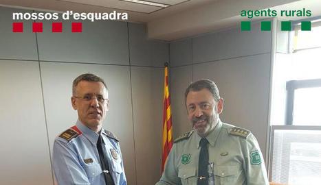 Miquel Esquius, de Mossos, i Josep Antoni Mur, de Rurals.