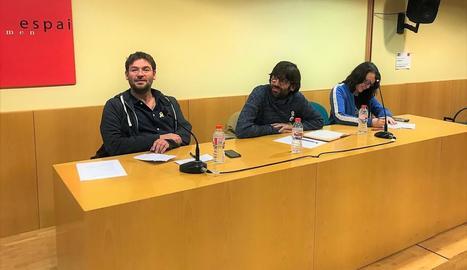 Albano Dante Fachin, Guillem Fuster i Muriel Rovira, ahir.