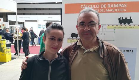 Centenars de persones van visitar ahir la desena edició d'Expo Tren, la fira sobre modelisme i lleure ferroviari de Lleida.