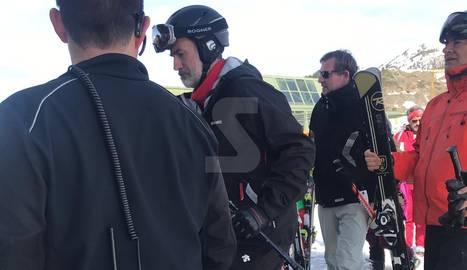 Felip VI, ahir a les pistes d'esquí de Baqueira