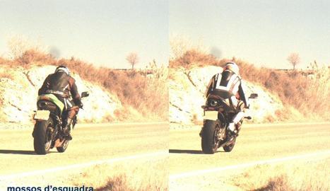 Les dos motos van ser detectades amb tot just un segon de diferència entre l'una i l'altra.