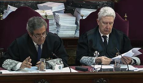 Els fiscals del judici del 'procés'.