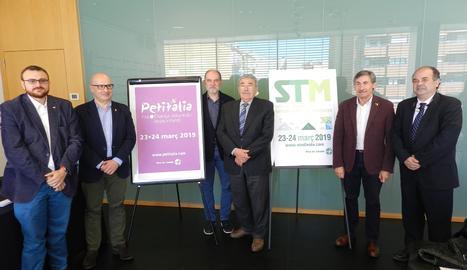 L'acte de presentació dels salons Petitàlia i STM.